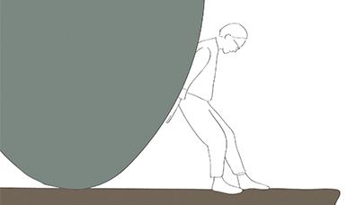 Rysunek przedstawiający bezsilność
